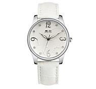 Women's Fashion Watch Japanese Quartz / Leather Band Casual White Red Red White