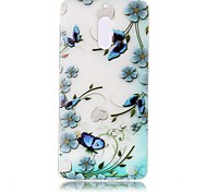 For Nokia 6 Case Cover Butterfly Love Flowers Pattern Painted Relief High Penetration TPU Material Phone Case