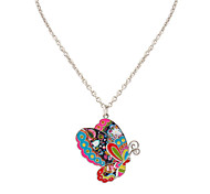 Women's Pendant Necklaces Butterfly Alloy Euramerican Fashion Rainbow Jewelry For Daily 1pc