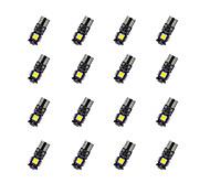 20pcs t10 декорация доски 5 * 5050smd chalkboard вела свет электрической лампочки dc12v электрической лампочки автомобиля