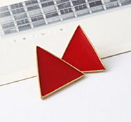 Simple Geometry Triangles Candy Color Earrings Femininity