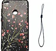 Для huawei p8 lite (2017) p10 покрытие корпуса слива цвету картина впрыск топлива облегчение обшивка кнопка толще tpu материал телефон