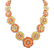 Women's Strands Necklaces Jewelry Jewelry Gem Alloy Euramerican Fashion Personalized Light Green Light Blue Orange Jewelry ForParty