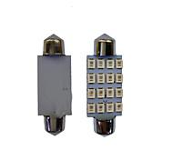 10Pcs 42MM 16*2835 SMD LED CarLight Bulb White Light DC12V