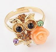 Классические кольца Кольцо Стразы Имитация АлмазныйБазовый дизайн Уникальный дизайн С логотипом Цветочный дизайн Животный дизайн Жемчуг