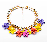 Women's Pendant Necklaces Flower Chrome Unique Design Personalized Rainbow Yellow Jewelry For Gift Outdoor 1pc