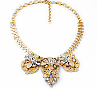 Women's Strands Necklaces Flower Chrome Unique Design Personalized Silver Gold Jewelry For Gift Outdoor 1pc