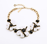 Women's Strands Necklaces Flower Chrome Unique Design Personalized White Jewelry For Gift Outdoor 1pc