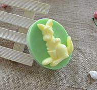 Lovely Kangaroo Shape Soap Mold DIY Silicone Soap Mold Handmade Soap Salt Carved DIY Silicone Food Grade Silicone Mold