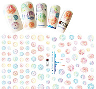 1pcs Fashion Sweet Style Nail DIY Beauty Beautiful Design Creative Nail Art 3D Stickers Colorful Fireworks Decoration F175