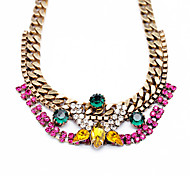 Women's Strands Necklaces Geometric Chrome Unique Design Personalized Rainbow Jewelry For Gift Outdoor 1pc