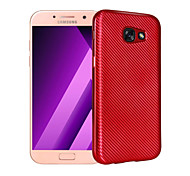 For Samsung Galaxy A3(2017) A5(2017) Case Cover Plating Back Cover Solid Color Soft TPU A7(2017)