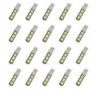 20Pcs T10 13*5050 SMD LED Car Light Bulb White Light DC12V