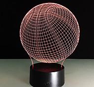 Новинка 3d визуальный акриловый привело ночник баскетбол usb освещение спальня настольная лампа красочный градиент атмосфера лампа