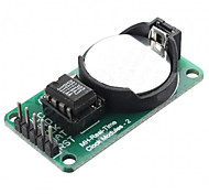 RTC DS1302 Real Time Clock Module - Green  Silver