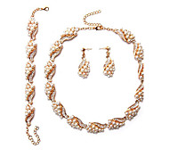 MPL The new Europe and the United States temperament Pearl Necklace Earrings