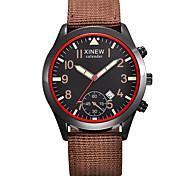 Men's Fashion Watch Quartz Leather Band Black Brown Khaki Black/Yellow Blue Brown black Brown Coffee