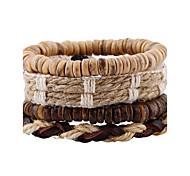 Муж. Жен. Кожаные браслеты Мода бижутерия Кожа Геометрической формы Бижутерия Назначение Свадьба Для вечеринок Спорт