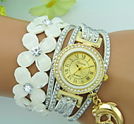 Women's Bracelet Watch Quartz Rhinestone Leather Band Dolphin Flower Bohemian