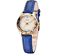 Women's Fashion Watch Quartz Water Resistant / Water Proof Leather Band Casual Black White Blue Red Brown