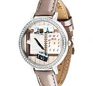 Women's Fashion Watch Quartz Digital Water Resistant / Water Proof PU Band Brown