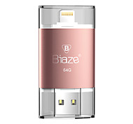 Biaze 64gb otg flash drive disk u per ios finestre per iphone ipad pc
