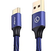 llano Phone USB Cable  Type C 5A Quick Charge Braided Portable Gold Plated Cable For Samsung Huawei Sony  LG Lenovo Xiaomi 120cm Aluminum Nylon