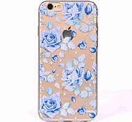 Для iphone 7 плюс 7 чехол чехол полупрозрачный узор задняя крышка чехол синяя роза мягкая tpu для iphone 6s плюс 6 5s 5 se