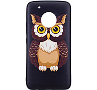 For Moto G5 Plus G5  Case Cover Owl Pattern Painted Embossed Feel TPU Soft Case Phone Case
