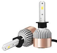 2шт h1 csp светодиодный фонарик фары автомобиля белый свет 6500k 7200lm вождение фары дальнего света лучей фары автоматическое освещение