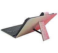 Назначение Чехлы панели со стендом с клавиатурой Флип С узором Чехол Кейс для Градиент цвета Твердый Искусственная кожа дляApple Samsung