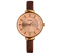Women's Fashion Watch Quartz Water Resistant / Water Proof Leather Band Casual Black White Red Brown Purple