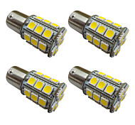 4шт 1156 ba15s / bay15d 1157 3w светодиодная лампочка автомобиля 27 smd 5050 задняя подсветка / тормоз / поворот / остановка свет dc 12v