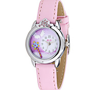 Women's Fashion Watch Quartz Leather Band Pink Rose