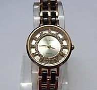 Women's Ladies' Fashion Watch Wrist watch Bracelet Watch Quartz Alloy Band Sparkle Dot Casual White