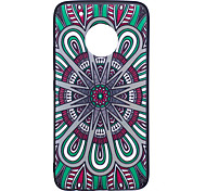 For Moto G5 Plus G5  Case Cover National Wind Disk Pattern Painted Embossed Feel TPU Soft Case Phone Case
