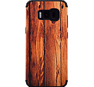 Для samsung galaxy s8 plus s8 ударопрочный образец текстуры древесины магнитная абсорбция чехол задняя крышка чехол для tpu и телефон для