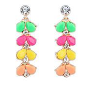 Euramerican Sweet Contracted Joker New Multicolor Leafs  Earrings Lady Party Drop Earrings Statement Jewelry