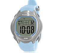 Men's Sport Watch Digital Water Resistant / Water Proof Noctilucent Rubber Band Blue Red Green Purple