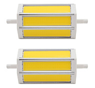 7W R7S COB SMD 118mm LED Energy Saving Light Instead of Floodlight Lamp AC85-265V 110V-240V (2 Pieces)