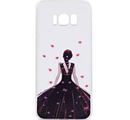 For Samsung Galaxy S8 Plus S8 Phone Case Black Dress Girl Pattern Soft TPU Material Phone Case