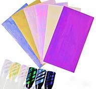 6PCS  Nail Stickers Laser The Aurora Straps Glue Line Paragraph 6 Conventional