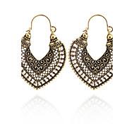 Brand Design Retro Vintage Design Charming Bohemian Antique Drop Earrings For Women Hollow Out Heart Shape Tibetan Earring Jewelry