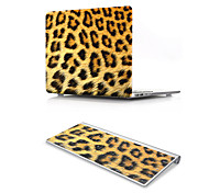 For MacBook Air 11 13 Pro Retina 13 15 Macbook 12 Case Cover PVC Material Oil Painting Animal Leopard Fur Pattern with US Silicone Keyboard Protector