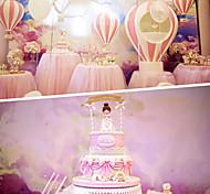 1шт bowknot украшает карту сцены вставил карту вечеринку день рождения день рождения торт небольшой флаг цвет случайный