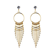 Drop Earrings Unique Design Tassel Love Heart Tassels Euramerican Fashion Bohemian Luxury Statement Jewelry Alloy Circle Line Jewelry For
