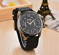 Men's Fashion Watch Quartz Fabric Band Black Blue Brown Green
