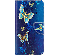 Para iphone 7plus 7 caixa de telefone material de couro PU padrão de borboleta dourada caixa de telefone pintada 6s mais 6plus 6s 6 se 5s