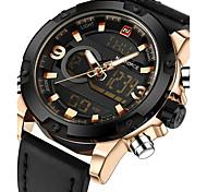 NAVIFORCE Luxury Brand Men Analog Digital Leather Sports Watches Men's Army Military Watch Man Quartz Clock Relogio Masculino Gift Box