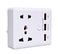 Power Strip 3 USB Ports 2 Outles Socket 10A 140V EU Plug